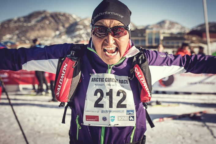 An Arctic Circle Race skier raring to go