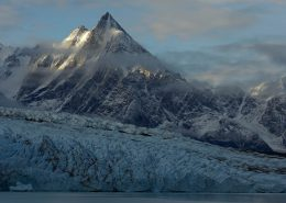 East Greenland glacier and mountains, by Magnus Elander