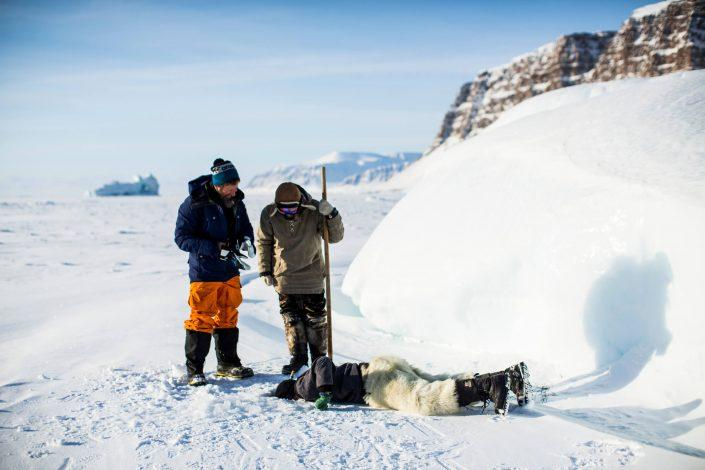 Greenlandic seal hunters, by Jeremy Bernard