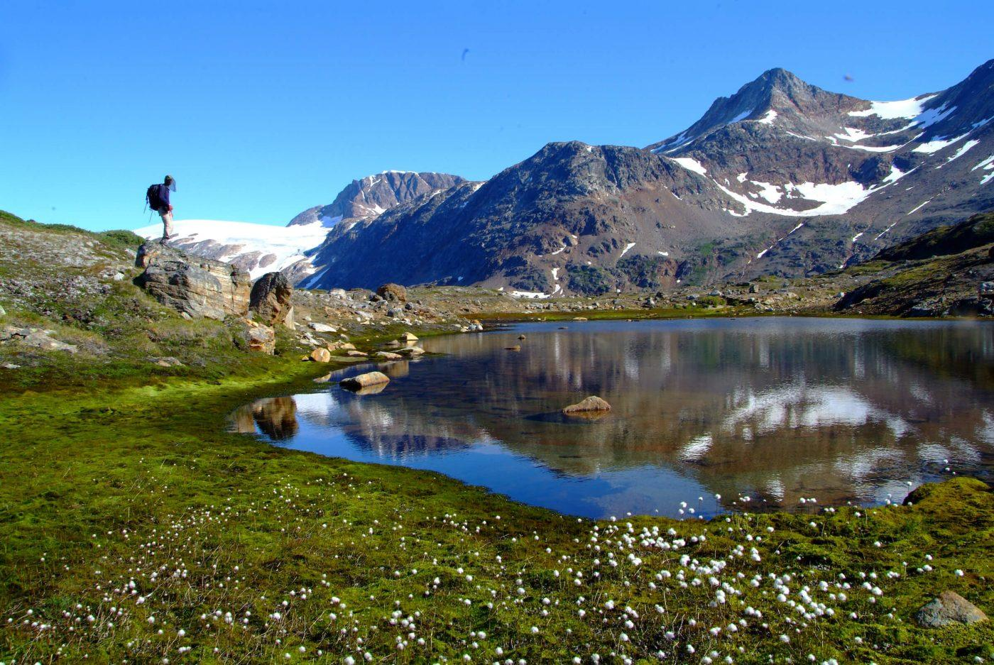 Hiking in the East Greenland high country in the Tasiilaq district. By Erwin Reinthaler