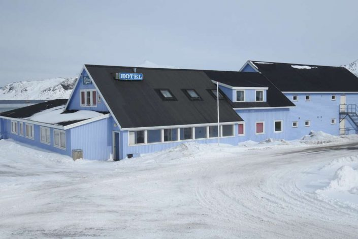 Photo of Hotel Kap Farvel from the outside. Photo by Hotel Kap Farvel, Visit Greenland