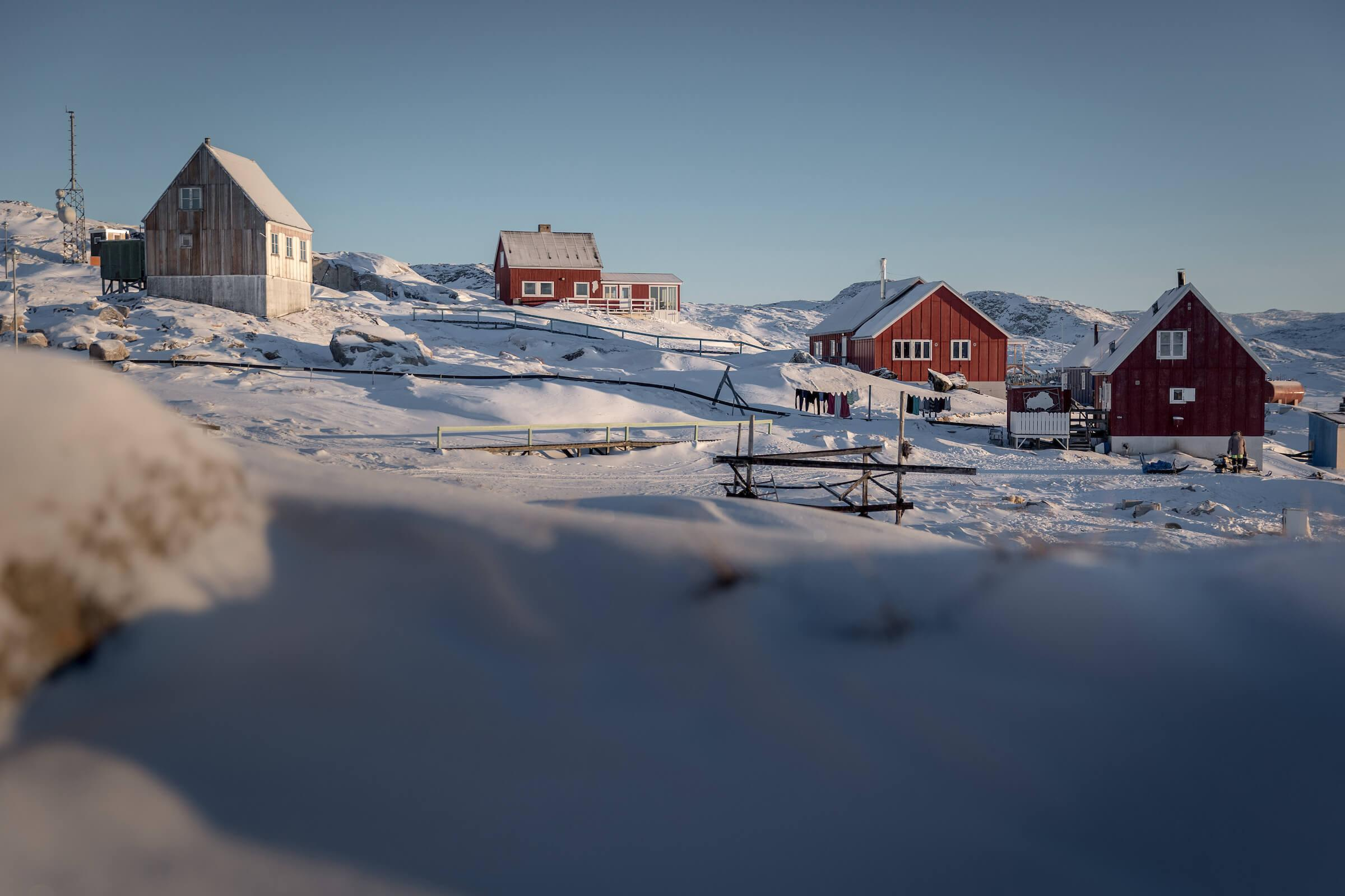 Hotel Nordlys in the village Oqaatsut in Greenland