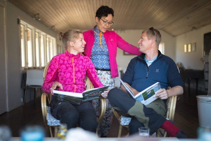 Guests at Igaliku Country Hotel in South Greenland