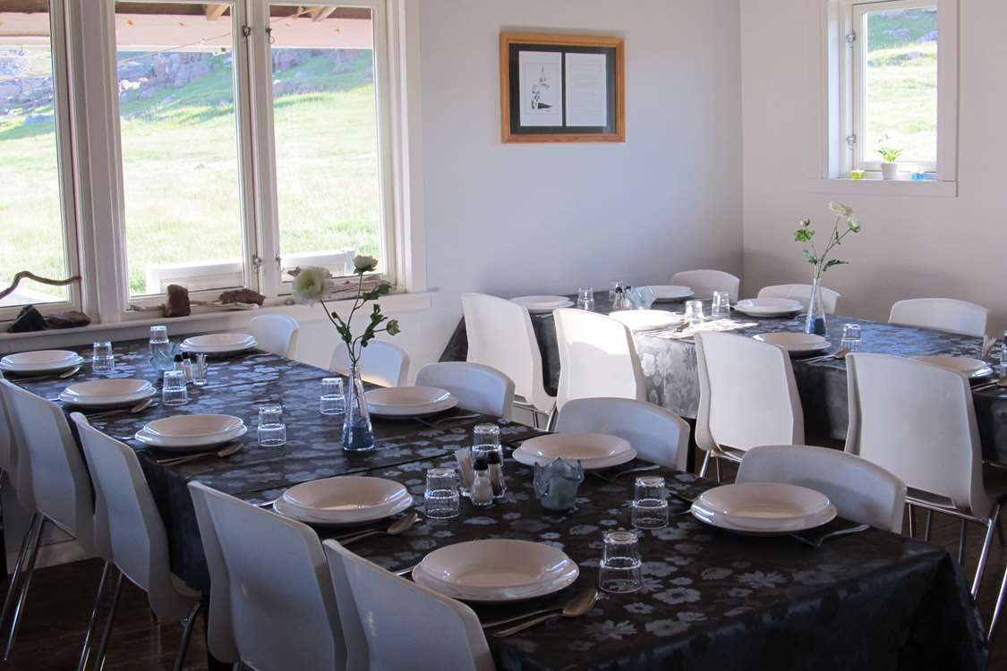 Dining area at Igaliku Country Hotel. Photo by Igaliku Country Hotel - Visit Greenland