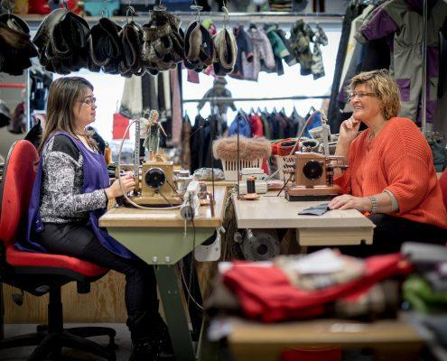 Inside the Mersortarfik sewing workshop in Ilulissat in Greenland