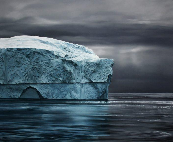 "Greenland No.71, 50""x60"", soft pastel on paper, 2014, courtesy of Zaria Forman"