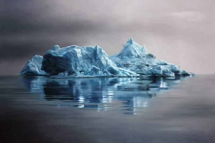 "Greenland No.62, 47""x70"", soft pastel on paper, 2013 (sold), Photo: courtesy of Zaria Forman"