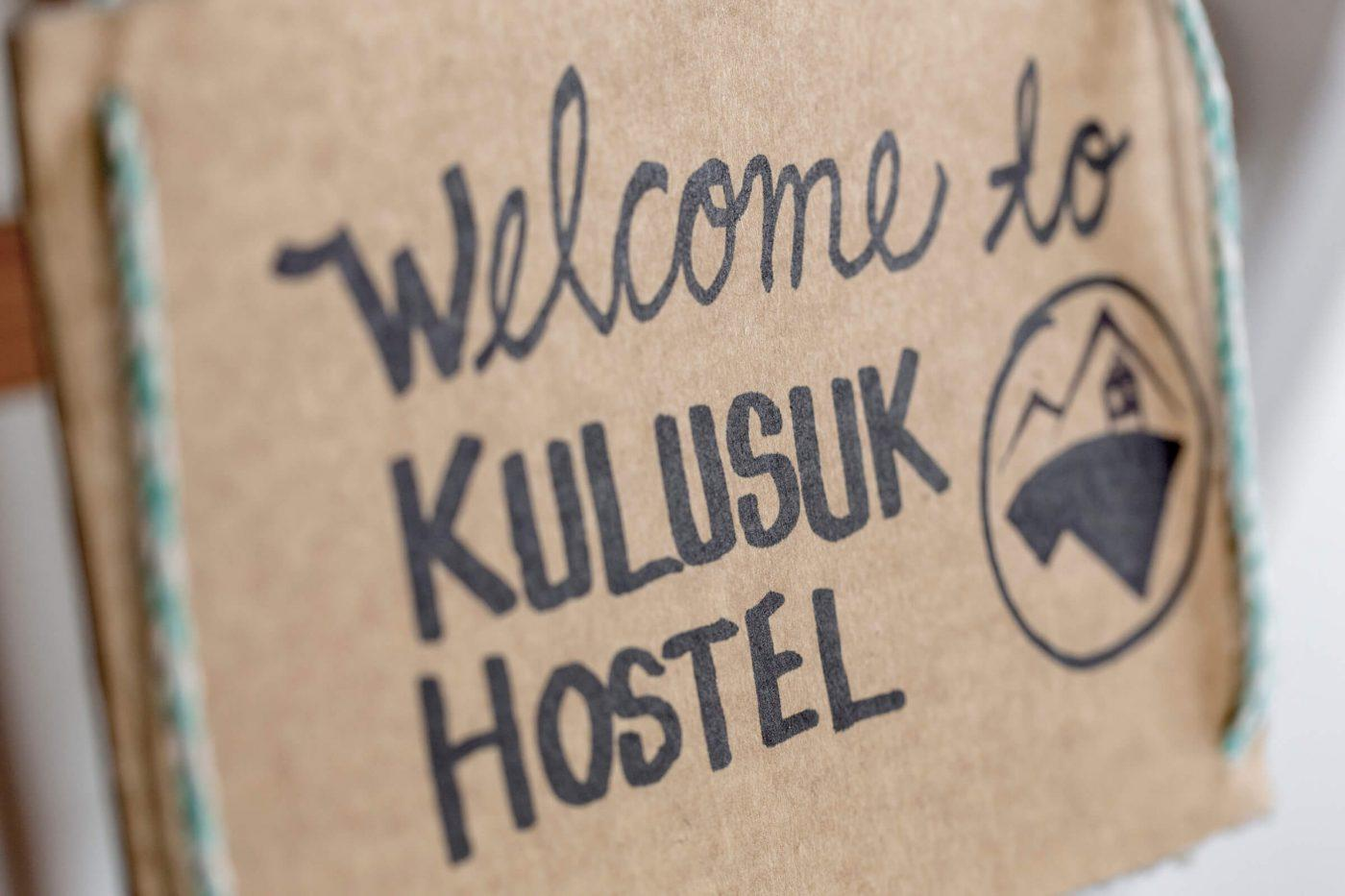 Welcome sign in Kulusuk Hostel in East Greenland. Photo by Icelandic Mountain Guides