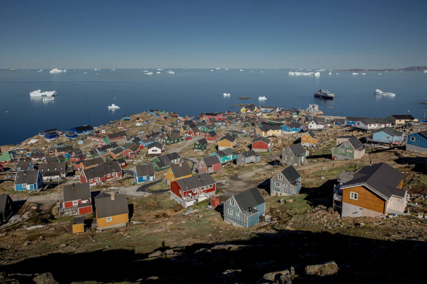Upernavik is the largest town in North Greenland