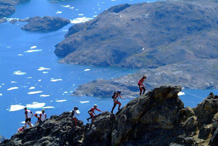 Mountain Climbing on the Arctic Team Challenge adventure race in East Greenland