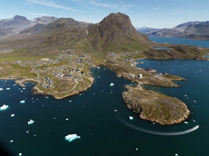 Narsaq from the air. Photo- Ace & Ace