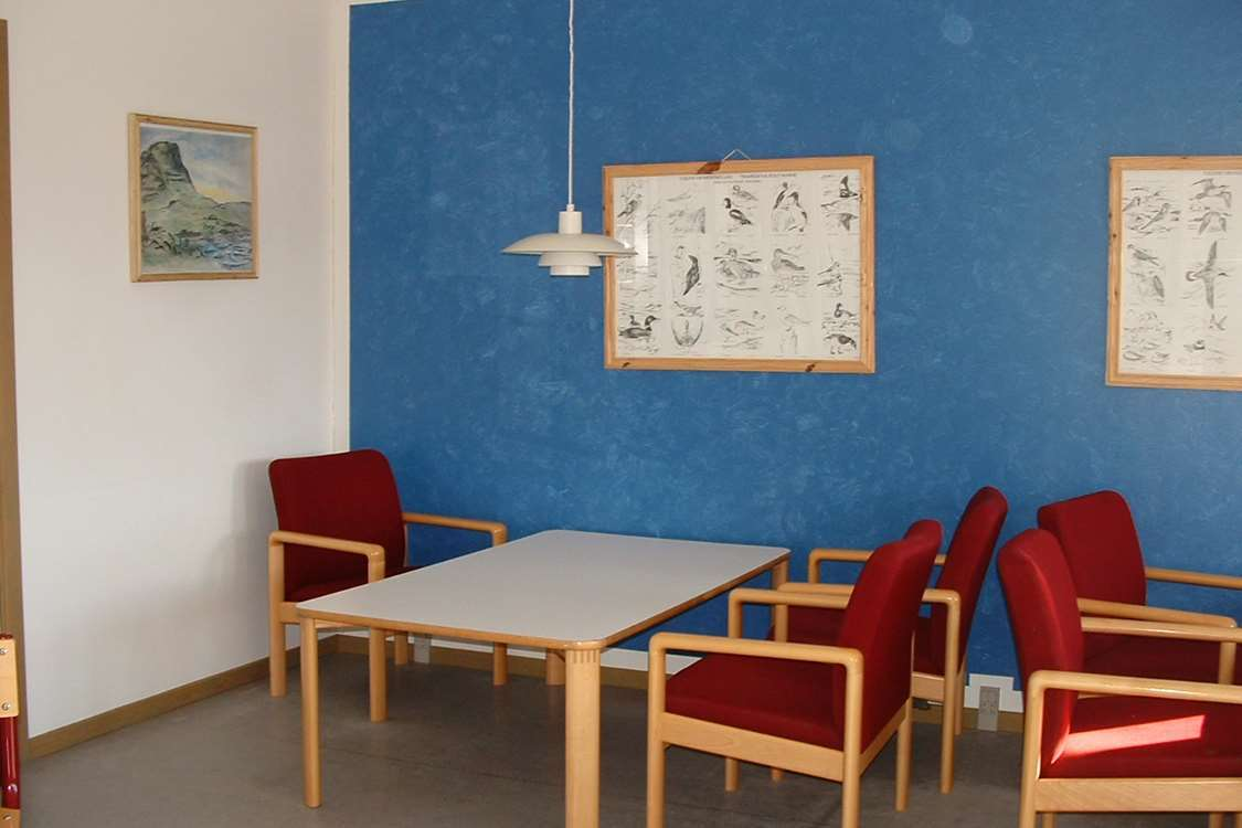Dining area in Narsarsuaq Hostel. Photo by Blue Ice Explorer