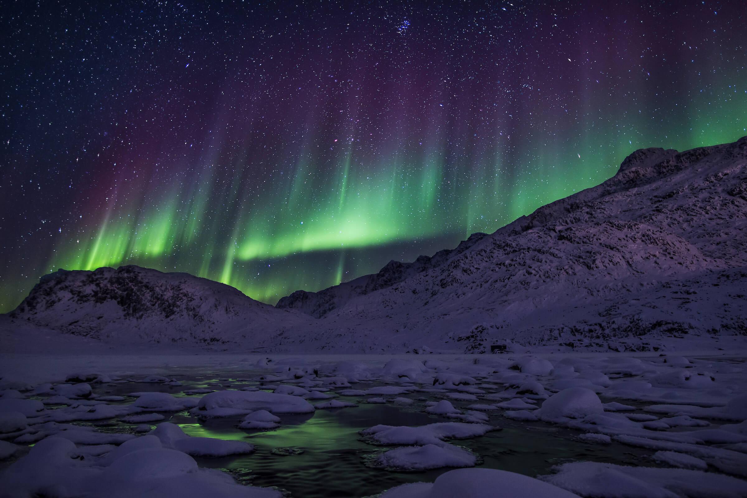 The Northern Lights Visit Greenland