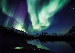 Northern lights and stars. By Mads Pihl