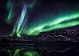 Northern Lights over the backcountry near Sisimiut in Destination Arctic Circle in West Greenland