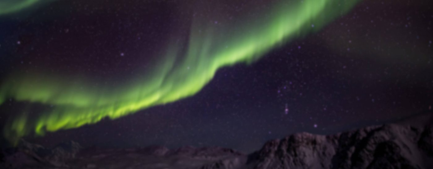 Northern Lights on a november night in Sisimiut in Greenland