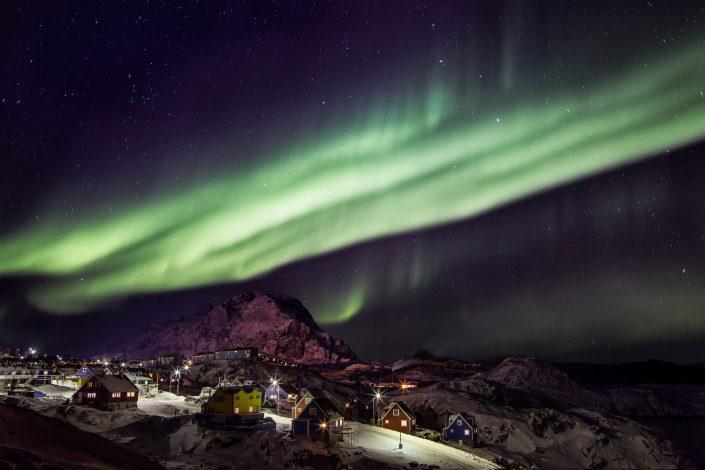 Northern lights over Sisimiut, by Mads Pihl