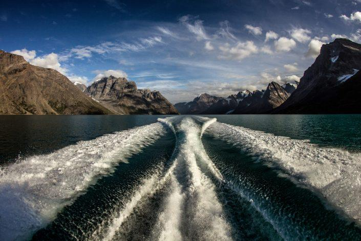 On a boat tour in the Eternity Fjord in Greenland with Maniitsoq Tour Boat. Photo by Mads Pihl