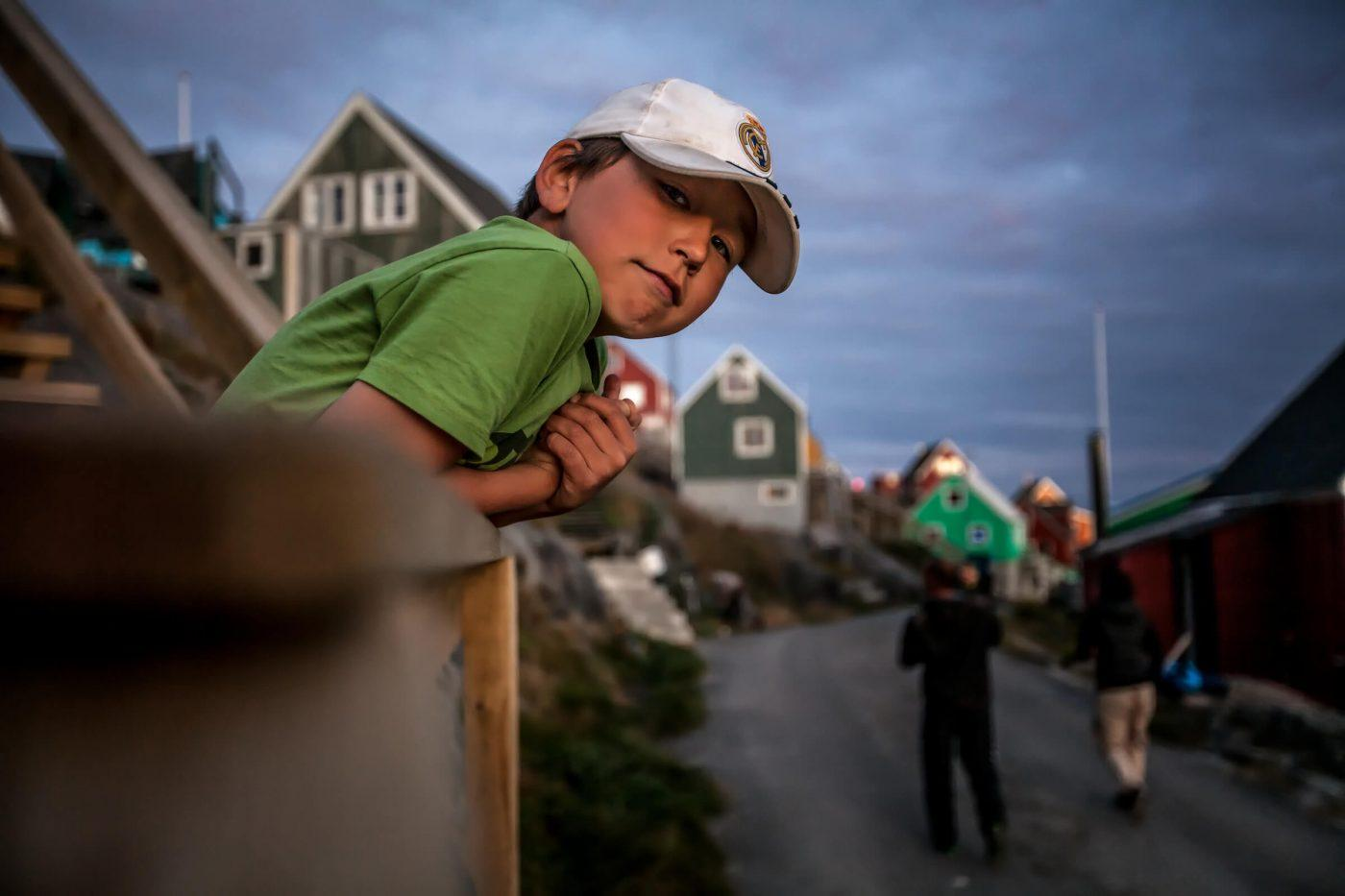 Portrait of a boy from Kangaamiut in Greenland. Photo by Mads Pihl