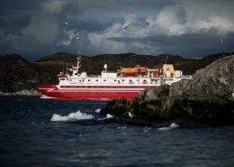 Sarfaq Ittuk departing Ilulissat in Greenland. By Mads Pihl