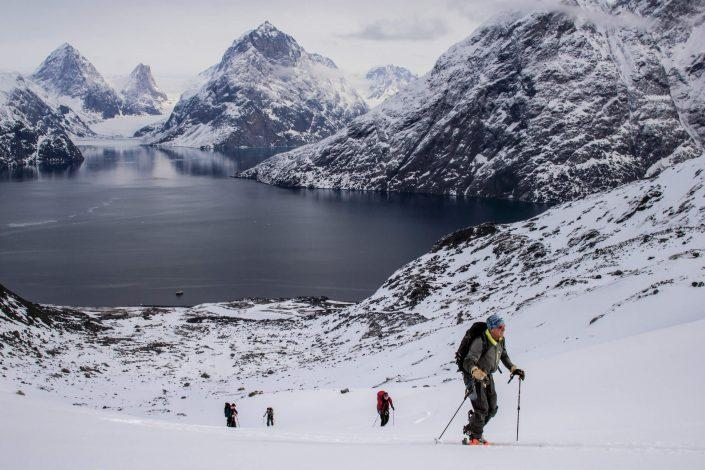 Skiing at Eternity Fjord. Photo by Jesper Regin