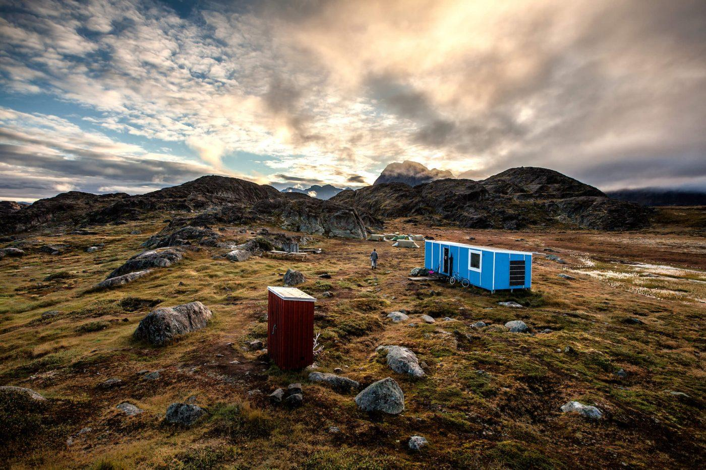 The fly fishing camp at Erfalik river in Greenland. By Mads Pihl