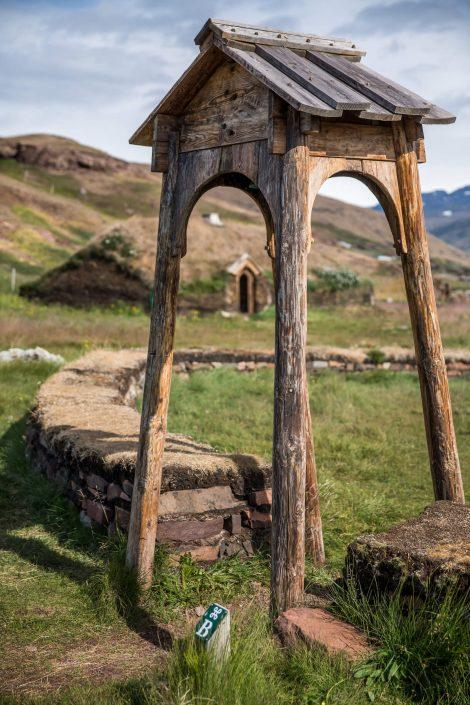 The gateway to Tjodhilde's church in Qassiarsuk. By Mads Pihl